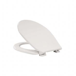 Arley Smooth White Finish Lightweight Plastic International Toilet Seat - 237200WH
